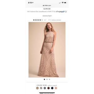 BHLDN Adrianna Papel Madigan dress in nude.